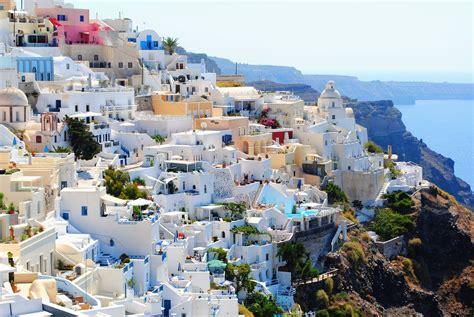 imagenes hd vacaciones fondo de pantalla de santorini grecia viaje vacaciones