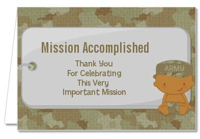 Camo Baby Shower Thank You Cards