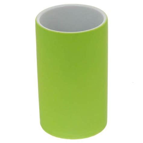 gobelet salle de bain quot rubber quot vert anis