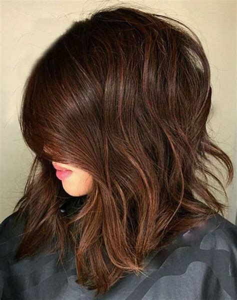 short hair cuts with dark brown color with carmel highlights 20 good brown short haircuts short hairstyles haircuts