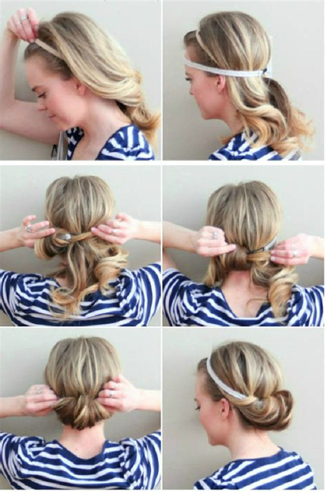 tuck in hairstyles 5 cute easy hairstyles for each day of the week