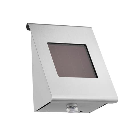 Bunnings Arlec Arlec Stainless Steel Camas Solar Wall Stainless Steel Solar Wall Light