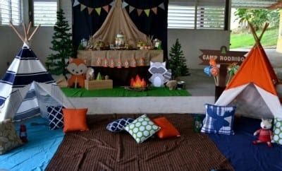 Woodland Themed Camping  Ee  Birthday Ee   Party Spaceships And