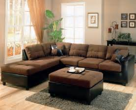 Livingroom Sectional Two Tone Modern Sectional Sofa 500655 Chocolate Dark Brown