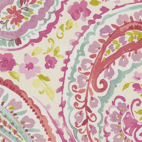 comforter fabric watercolor paisley fabric by the yard coral fabric