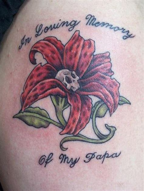 memorial flower tattoo designs 39 remembrance tattoos for