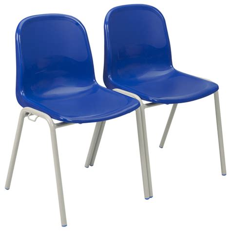 Proform harmony linking school chairs 430mm high blue seat black frame pack 4 rapid online