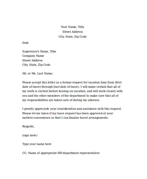 Request Letter Sle For Vacation Leave search results for vacation leave letter of application
