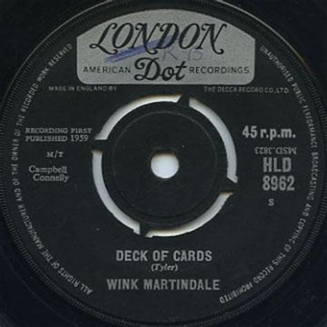 Wink Martindale Deck Of Cards by Reggaecollector Wink Martindale Deck Of Cards