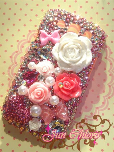 Samsung Themes Rose   items similar to handmade bling bling deco sweet rose