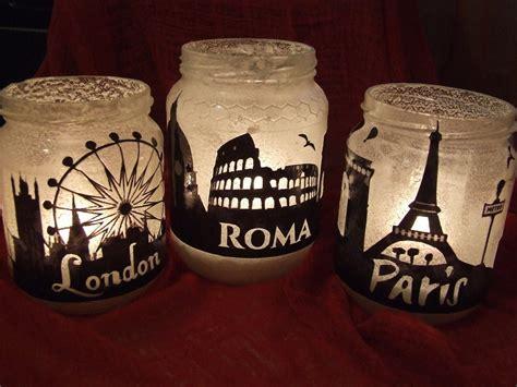 candele vetro barattoli di vetro porta candele in stile shabby chic