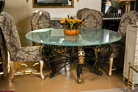 Crackle Glass Top Dining Table Nouveau Style Crackle Glass Dining Table At 1stdibs