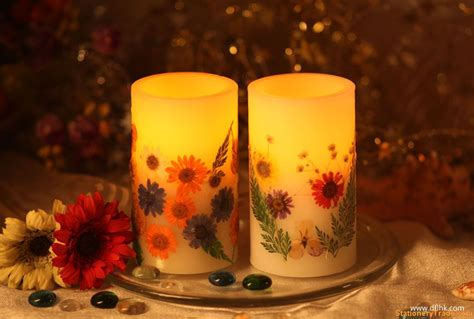 Decoration Candles - led candle with flower decoration statioenry trade leads
