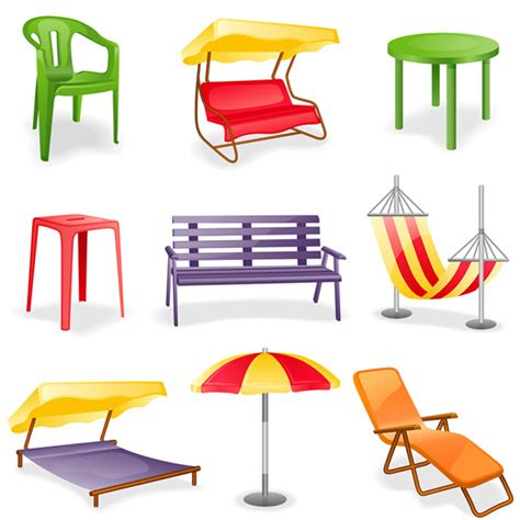simple home leisure furniture vector illustration free