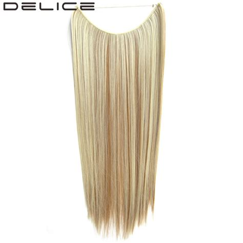 invisible line hair extensions aliexpress com buy delice 22 quot long straight high