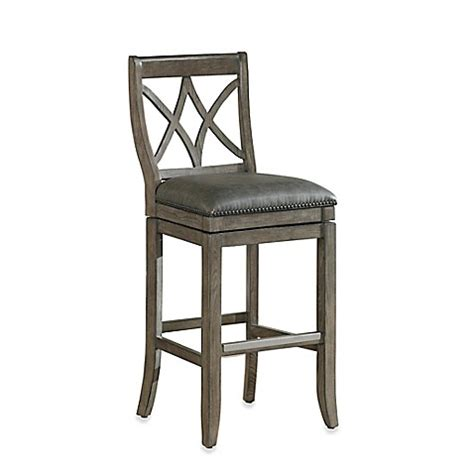 bed bath and beyond hadley american heritage hadley swivel stool in light grey bed
