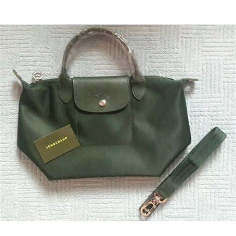 Longch Neo Size Large Authentinc Brand New And Authentic Longch Le Pliage Neo Moss Green