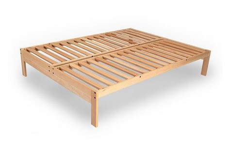 natural wood platform bed unfinished pine platform bed frame twin full or queen