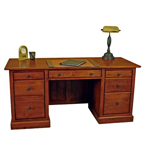 Unfinished Furniture Desks by 64 Inch Alder Shaker Executive Desk Burr S Unfinished