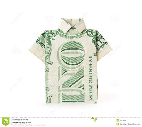 Dollar Bill T Shirt Origami - dollar bill t shirt royalty free stock images image 3351979