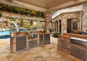 Stone Kitchen Design by 20 Stone Patio Outdoor Designs Decorating Ideas Design