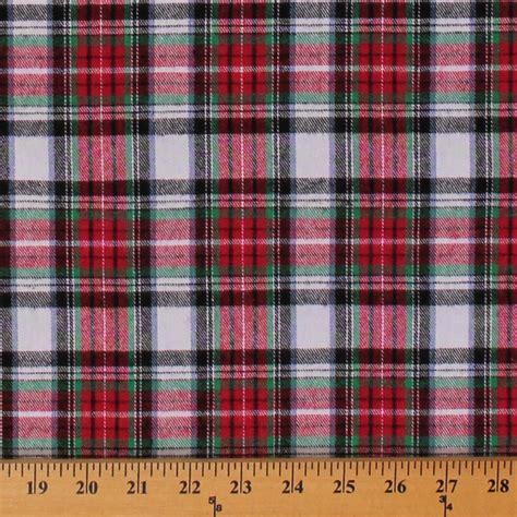 printable felt fabric flannel red white black plaid 55 quot wide cotton flannel
