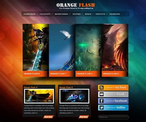 9 free wordpress themes for online games my blog