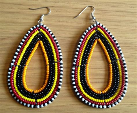 maasai handmade africa ethnic jewelry beaded multi color