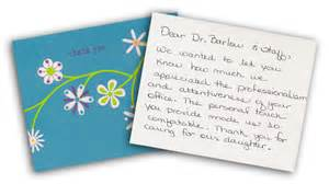 thank you card best thank you cards for doctors sle of