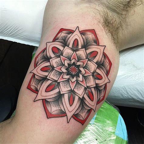 mandala tattoo red red mandala tattoo best tattoo design ideas