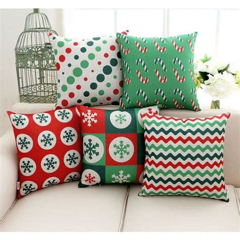 christmas sofa covers attractive christmas throw pillow covers home designing