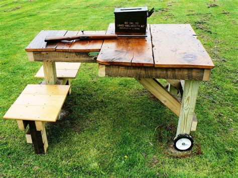 portable shooting bench building plans homemade portable shooting bench plans homemade ftempo