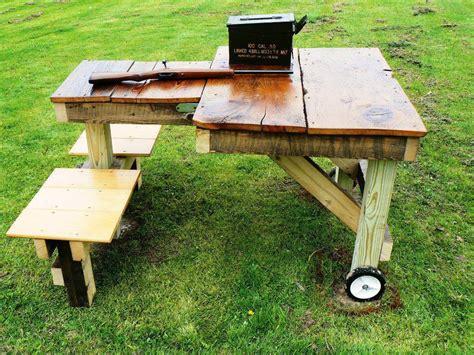 shooting bench plans portable homemade portable shooting bench plans homemade ftempo