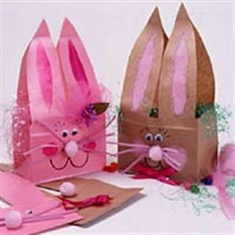 paper bag bunny cute paper bag crafts pinterest