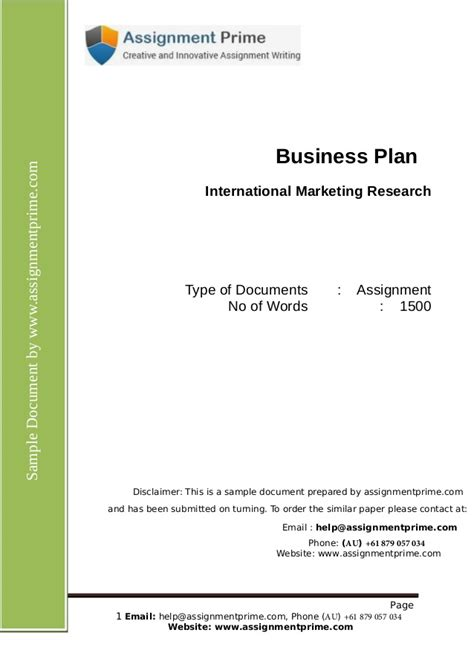 Mba Research Login by International Marketing Research Assignment Sle