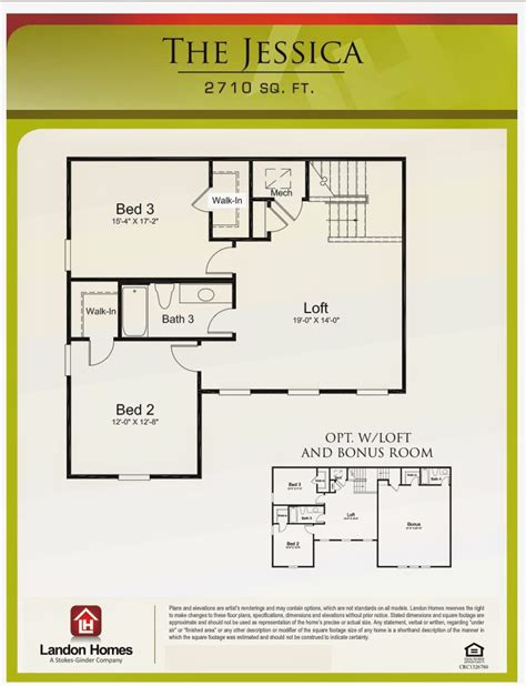 landon homes featuring the floor plan benton