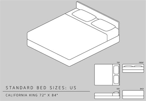 California King Mattress Size King Size Bed Dimensions Measurements California King