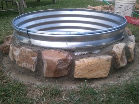 diy steel pit ring 36 quot x 12 quot galvanized pit ring 38 at rural king river rock free from local creek bedmortar