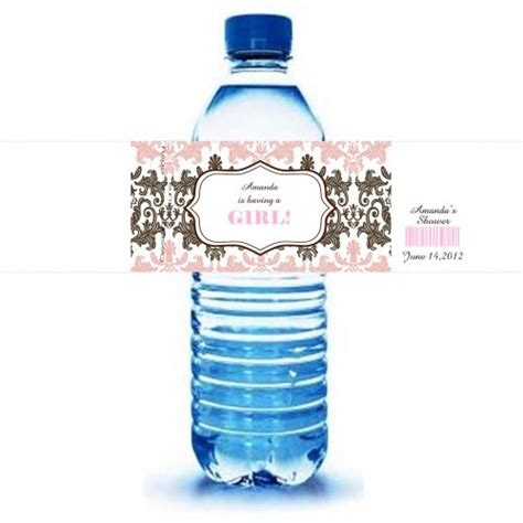 Baby Shower Water Bottle Labels by Water Bottle Labels 30 Waterproof Baby Shower