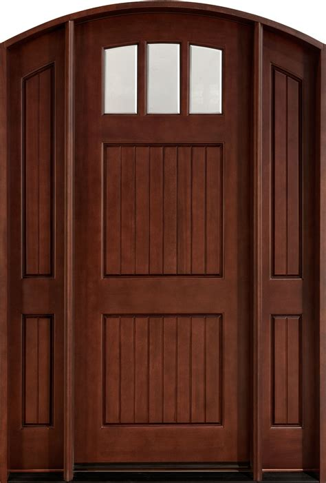 solid wood front craftsman custom front entry doors custom wood doors
