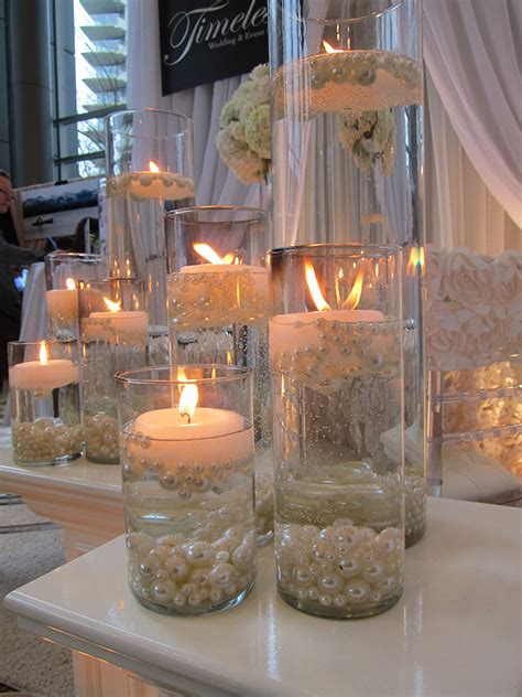 Elegant Diy Pearl And Candle Centerpieces Mon Cheri Bridals Where To Buy Vases For Wedding Centerpieces