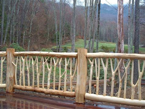 railings bark intact peeled logs poles twigs bark house