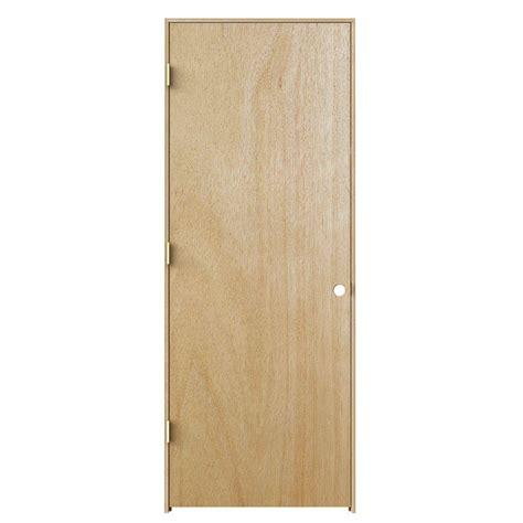 jeld wen woodgrain flush unfinished hardwood single jeld wen 30 in x 80 in woodgrain flush unfinished