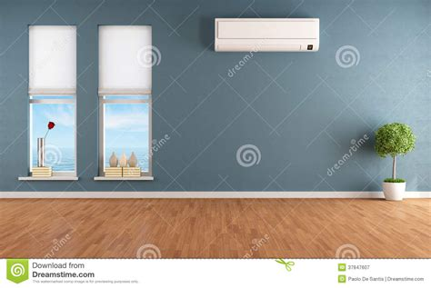 air conditioner for bedroom blue empty room with air conditioner royalty free stock photography image 37847607