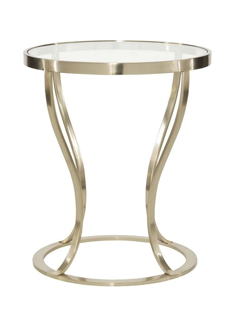 metal end table round metal side table bernhardt