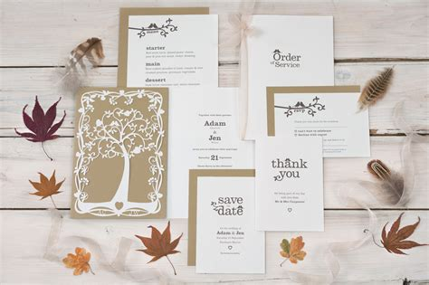 Wedding Invitations With Trees by Wedding Stationery Ranges