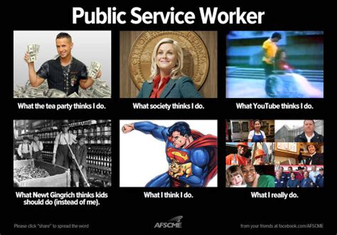 Public Meme - what people think public service workers do