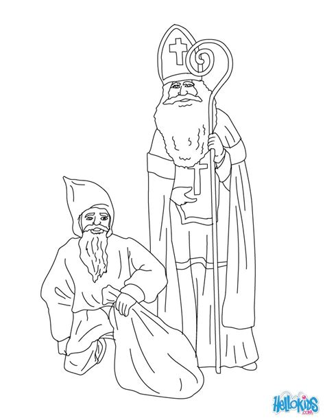 coloring pages for christmas in germany st nicholas mr bogeyman coloring pages hellokids com