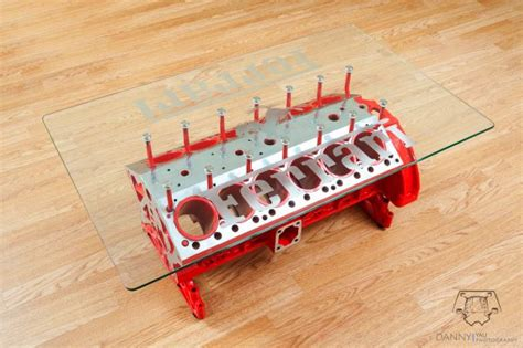 V12 Engine Coffee Table V12 Engine Transformed Into A Small Rectangular Coffee Table Homecrux