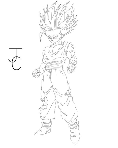 gotenks super saiyan 3 coloring pages